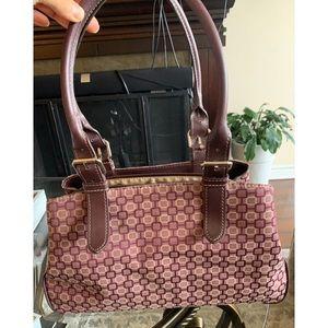 NINE WEST Jacquard Satchel Bag
